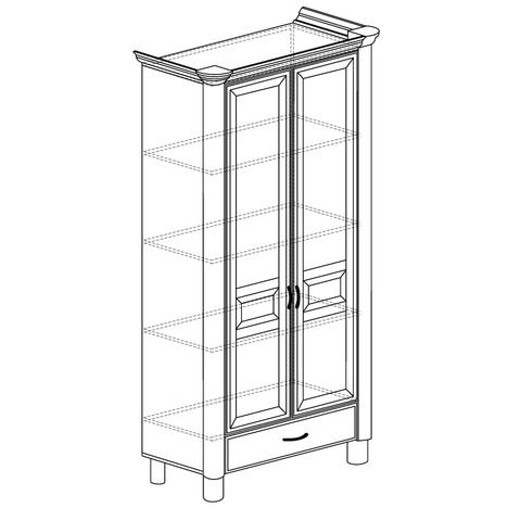 Шкаф 2-дверный Элли 571