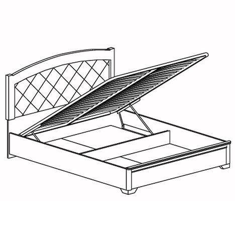 Кровать двойная с ПМ 1600 Парма 806
