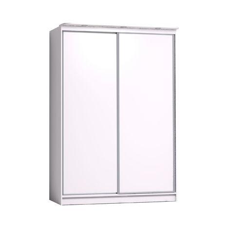 Купе шкаф с зеркалом Домашний 1600 белый