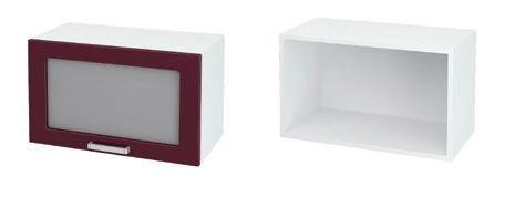 Шкаф верхний горизонтальный со стеклом ШВГС 600 ЮЛ